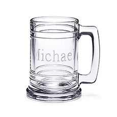 Clear Glass Maritime Beer Mug