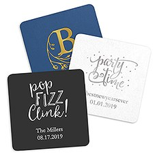 Personalized Paper Coasters - Square