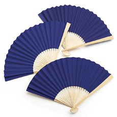 Paper Fan - Light Navy