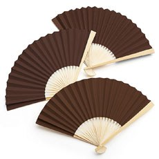 Paper Fan - Brown