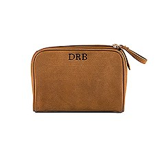 Tanned Genuine Leather Travel Bag - Personalized