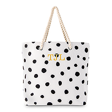 Dalmatian Dot Tote - Black on White