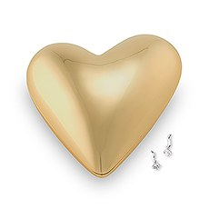 Gold Modern Heart Jewelry Box