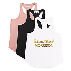 Personalized Bridal Party Wedding Tank Top - Future Mrs