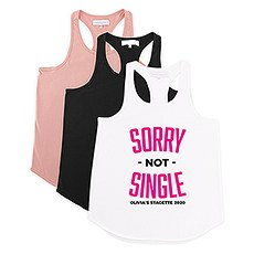 Personalized Bridal Party Wedding Tank Top - Sorry Not Single