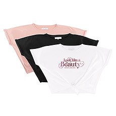 Personalized Bridal Party Tie-Up Wedding Shirt - Look Like A Beauty