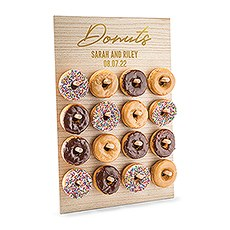 Personalized Wooden Donut Wall Display - Donuts