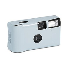 Pastel Blue Single Use Camera – Solid Color Design
