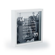 "Shadow Box Photo Frame - ""Memories"" Etching"