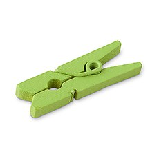 Green Mini Wooden Clips