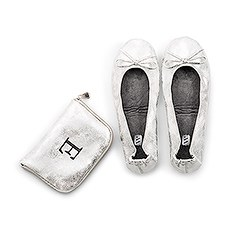 Foldable Flats Pocket Shoes - Silver