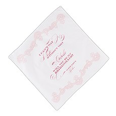 "Stylized Lace ""I Can't Say I Do Without You"" Personalized Handkerchief"