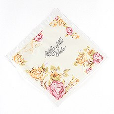 "Tea Rose Print Handkerchief for the ""Mothers"""