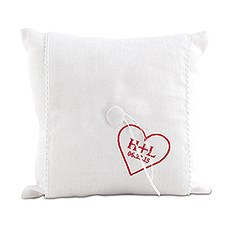 """Simply Sweet"" Personalized Heart Ring Pillow"