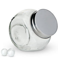 Small Glass Candy Jar with Lid Wedding Favor