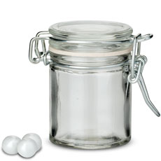 Small Glass Jar With Wire Snap Lid Favor Container