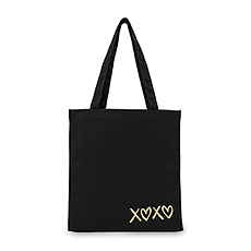 XOXO Black Canvas Tote Bag
