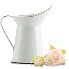 Vintage White Enamelware Pitcher Wedding Favor
