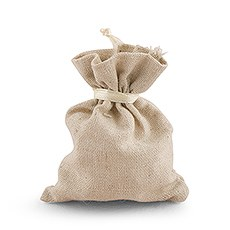 Mini Cotton Linen Drawstring Bags - Plain