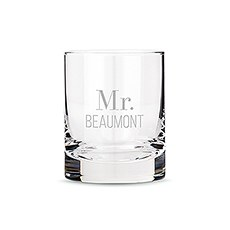 Personalized Whiskey Glasses with Two Line Text Etching
