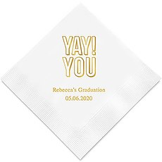 """Yay! You"" Printed Napkins"