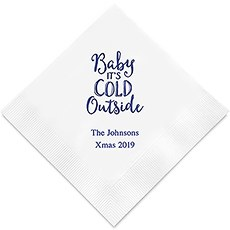 Baby It's Cold Outside Printed Paper Napkins