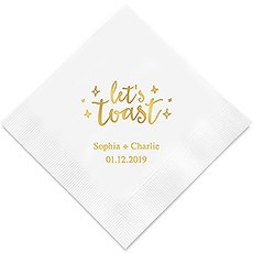 Let's Toast Printed Napkins
