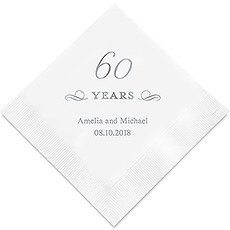 60 Years Printed Napkins