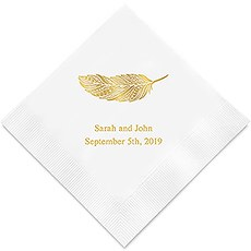 Feather Whimsy Printed Paper Napkins