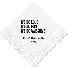 We Do Awesome Printed Napkins