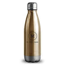 Central Park Travel Bottle - Matte Gold - Typewriter Monogram Printing