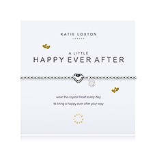 """Happy Ever After"" Silver Bracelet with Crystal Heart Charm"