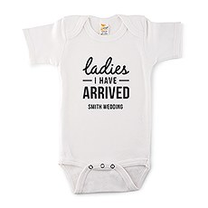 Cute Personalized White Baby Bodysuit - I Have Arrived