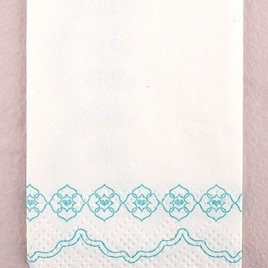 sea blue printed wedding tissues