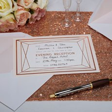 Geo Blush Evening Invitations - 10 Pack
