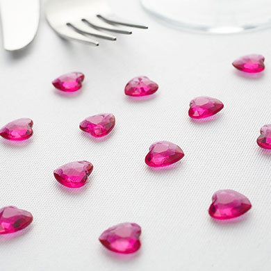 Heart Diamante Table Gems Pack