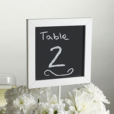 Chalkboard Table Number Signs Pack