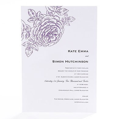 Vintage Bloom Baroque Rose Wedding Collection Invitation