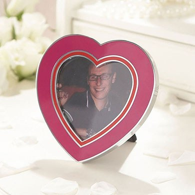 Queen Of Hearts Picture Frame Pink and Red