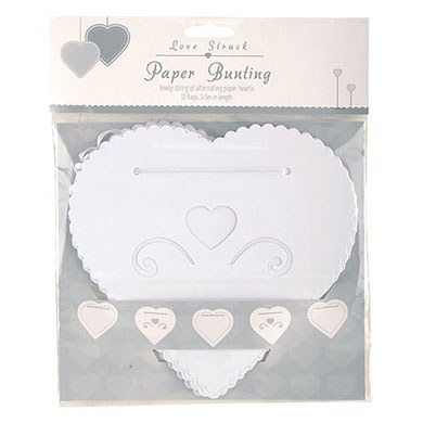 Hearts Paper Bunting