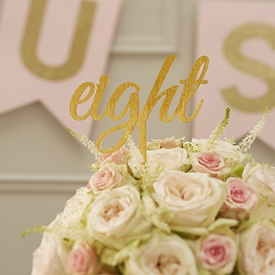 Image of Acrylic Gold Table Numbers - Word Style
