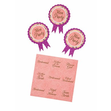 Floral Hen Party Badge