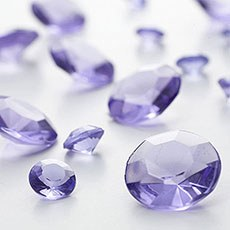 Lilac Diamante Table Gems 100g Mixed Size Value Pack