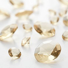 Gold Diamante Table Gems 100g Mixed Size Value Pack