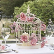 Large Ivory Wedding Birdcage
