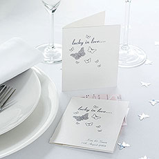 Lottery Ticket White Silver Butterfly Favor Pack