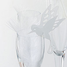 Laser Cut Bird Place Cards for Glasses Pack