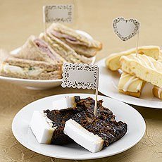 Vintage Romance Paper Food Flags - 20 Pack