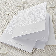 White and Pearl Essence Invitation DIY Kit - 10 Pack