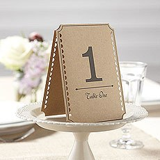 Kraft Table Numbers 1-12 Pack